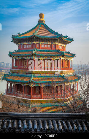 The Summer Palace (Chinese: 頤和園), is a vast ensemble of lakes, gardens and palaces in Beijing. It was an imperial garden in the Qing Dynasty. Mainly d