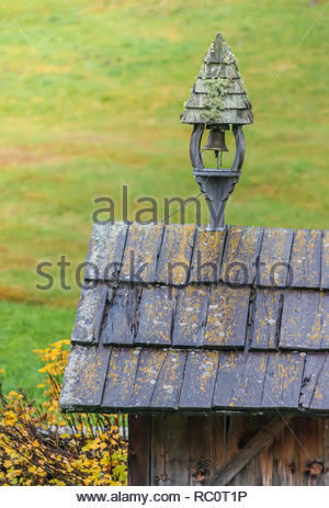 Belfry of old alpine cabin in Riva di Tures, Campo Tures, South Tyrol, Italy - Stock Photo
