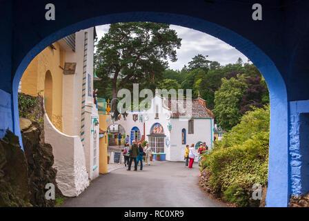 Portmerion village. - Stock Photo