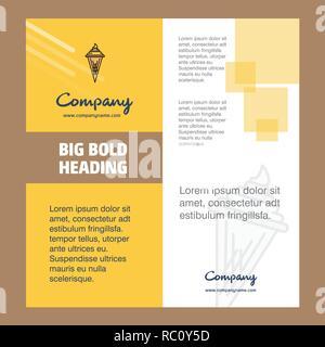 Ice Cream Company Brochure Title Page Design Company