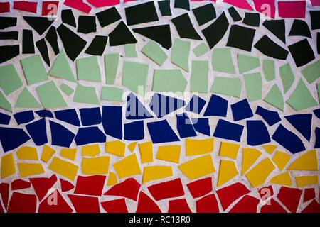 Mosaic. Multi-colored mosaic of ceramic tiles. - Stock Photo