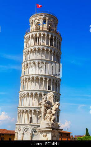 Leaning Tower, Campo dei Miracoli, Pisa, Tuscany, Italy, Europe - Stock Photo