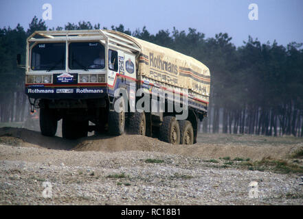 1984 M.A.N Dakar Rally Rothmans Porsche Rally raid support truck. - Stock Photo