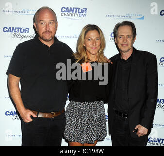 FILE PHOTOS: 12 January 2019. NEW YORK, NY - SEPTEMBER 11:  Louis C.K., Edie Falco, Steve Buscemi attends Annual Charity Day hosted by Cantor Fitzgerald and BGC at BGC Partners, INC on September 11, 2015 in New York City.   People:  Louis C.K., Edie Falco, Steve Buscemi Credit: Storms Media Group/Alamy Live News - Stock Photo