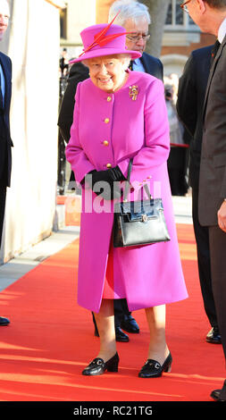 Her Majesty The Queen visits The Honourable Society of Lincoln's Inn to officially open the new Ashworth Centre and re-open the recently renovated Great Hall  Featuring: Queen Elizabeth Where: London, United Kingdom When: 13 Dec 2018 Credit: WENN.com - Stock Photo