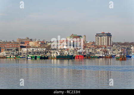 The harbour of New Bed Bedford, Massachusetts, USA. - Stock Photo