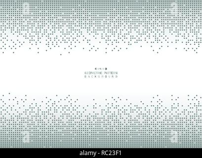Abstract geometric blue square pattern of big data futuristic background, vector eps10 - Stock Photo