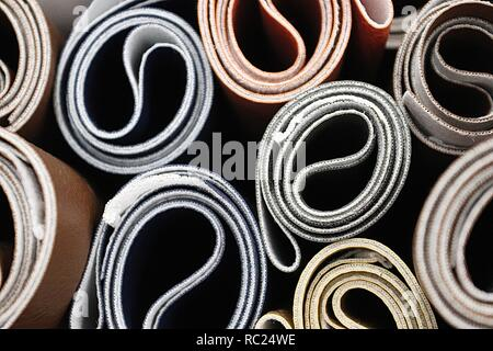 Close up surface of textile fabrics in high resolution - Stock Photo