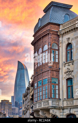 Street in Icheri Sheher, Baku Azerbaijan - Stock Photo