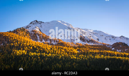 Dolomites Mountains, autumn landscape in the The Ultental ( Val d'Ultimo ) in South Tyrol, Alps, northern Italy, Europe. Beauty of nature concept . - Stock Photo