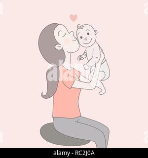 Kissing Hand Drawn Cartoon Characters Human Profile Stock Vector Image Art Alamy