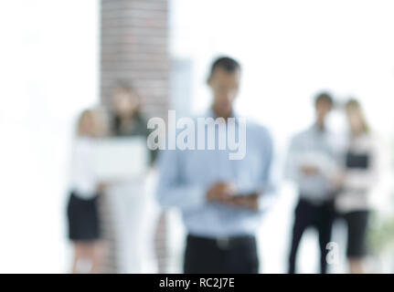blurred image of the modern office.business background.