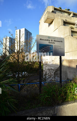 UK: London: Camden: Alexandra and Ainsworth Estate - Stock Photo