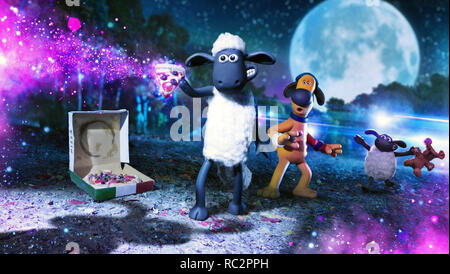 Farmageddon: A Shaun the Sheep Movie is an upcoming 2019 British stop-motion animated sci-fi comedy film produced by Aardman Animations.    This photograph is for editorial use only and is the copyright of the film company and/or the photographer assigned by the film or production company and can only be reproduced by publications in conjunction with the promotion of the above Film. A Mandatory Credit to the film company is required. The Photographer should also be credited when known. - Stock Photo