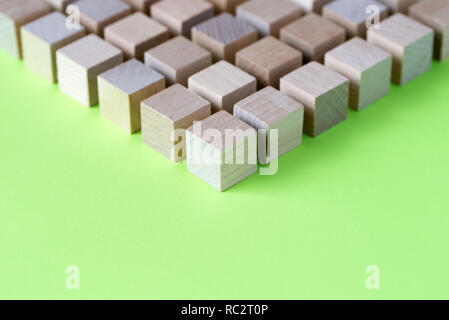 Wood cubes arranged in pattern geometric - Stock Photo