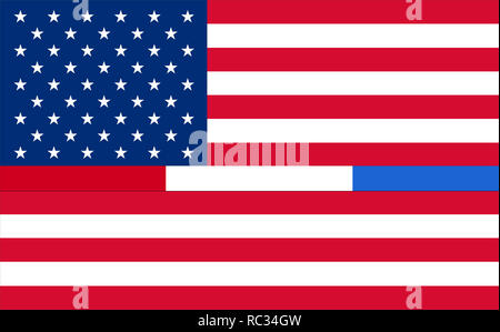 Representing combined support for police, firefighters, 911, Corrections or Federal Agents United States. USA American 911 Flag. emergency medical res - Stock Photo