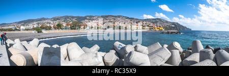 Tetrapods used at the new seawall at Funchal, Madeira. - Stock Photo