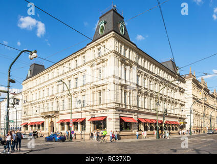 Prague cafe Čajovna Setkání Tea rooms and cafe typical bohemian cuisine Prague Czech republic EU Europe - Stock Photo