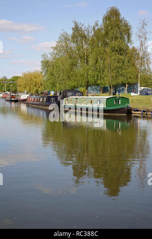 Boats on the River Great Ouse at Ely, Cambridgeshire, England - Stock Photo