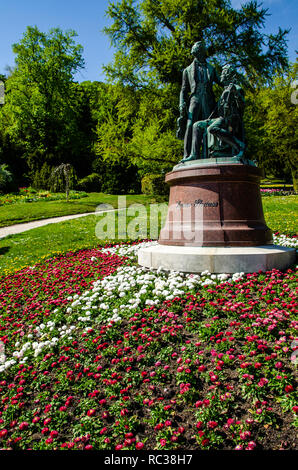 Monument to the great Austrian composers Lanner and Strauss in Baden near Vienna. Austria - Stock Photo
