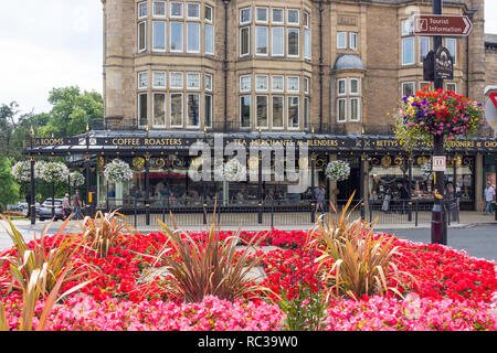 Betty's Tea Rooms, Parliament Street, Montpellier Quarter, Harrogate, North Yorkshire, England, United Kingdom - Stock Photo