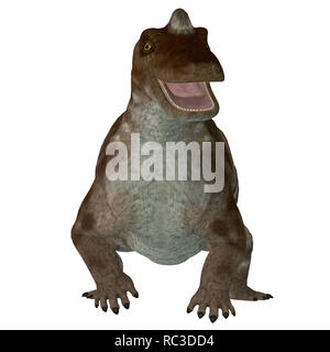 Keratocephalus was a primitive herbivore dinosaur that lived in South Africa during the Permian Period. - Stock Photo