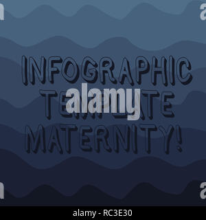 Handwriting text writing Infographic Template Maternity. Concept meaning Motherhood elements, material and guidelines Wave photo Multi Toned Color Cop - Stock Photo