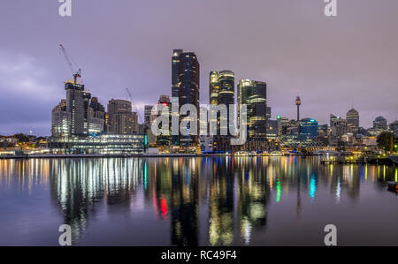 sydney city with clouds in the early morning - Stock Photo