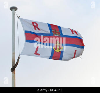 Flag of the Royal National Lifeboat Institute - Stock Photo