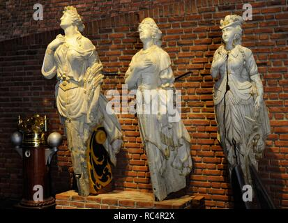 Figureheads. The central figure from four-masted barque 'Stoveren'. Built in 1892 in Scotland as Beechbank, the vessel came under Norwegian ownership in 1913. Norwegian Maritime Museum. Oslo. Norway. - Stock Photo