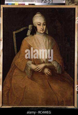 Portrait of Anna Leopoldovna, regent of Russia (1718-1746). Museum: State Russian Museum, St. Petersburg. Author: Vishnyakov, Ivan Yakovlevich. - Stock Photo
