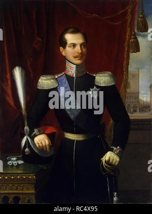 Portrait of the Crown prince Alexander Nikolayevich (1818-1881). Museum: State Hermitage, St. Petersburg. Author: SCHIAVONI, NATALE. - Stock Photo