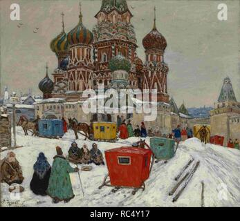 Saint Basil's Cathedral. Museum: PRIVATE COLLECTION. Author: Aralov, Vladimir Nikolayevich. - Stock Photo