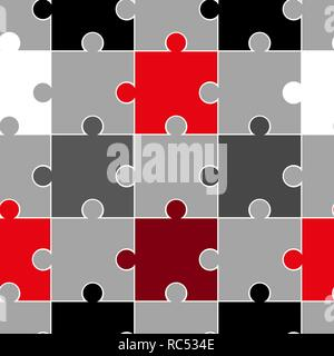 Colorful puzzle seamless background pattern. Vector illustration. - Stock Photo