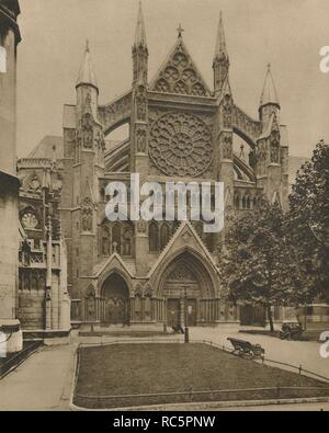 'The Modern North Front and the Main Entrance to the Abbey', c1935. Creator: Unknown. - Stock Photo