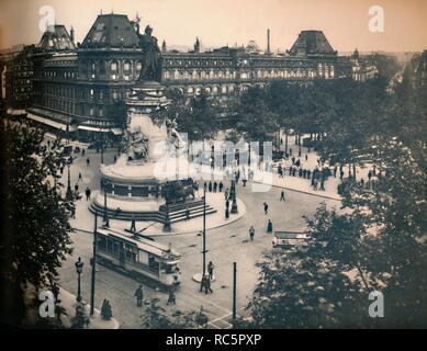 'Paris. - La Place De La République. - LL, c1910. Creator: Unknown. - Stock Photo
