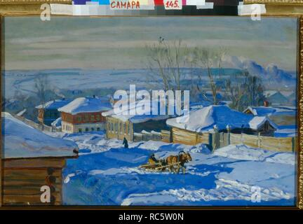 Winter. Museum: PRIVATE COLLECTION. Author: Zhukovsky, Stanislav Yulianovich. - Stock Photo