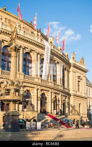 Prague Rudolfinum concert hall a music auditorium on Jan Palach Square Prague Czech Republic EU europe - Stock Photo