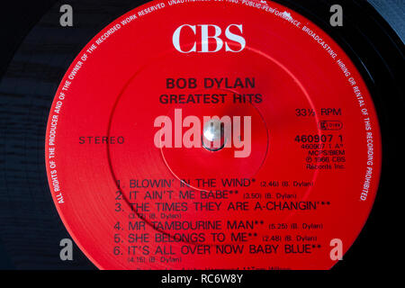 Cbs Record Label Lp Album By The Clash Rock Group Band
