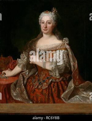Portrait of Archduchess Maria Anna of Austria (1683-1754), Queen of Portugal. Museum: Museo del Prado, Madrid. Author: RANC, JEAN. - Stock Photo
