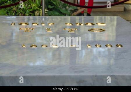 Josip Broz Tito Tomb - Memorial Center - (House of Flowers) Museum of Yugoslavia - Belgrade, Serbia - Stock Photo