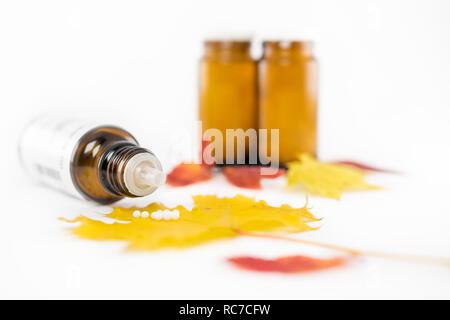 Homöopathische Heilmittel Globuli - Stock Photo