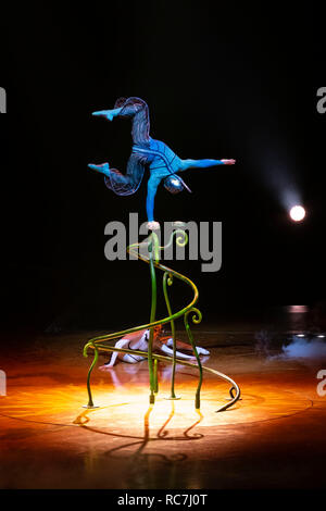 The Cirque du Soleil performing the show Ovo - Stock Photo