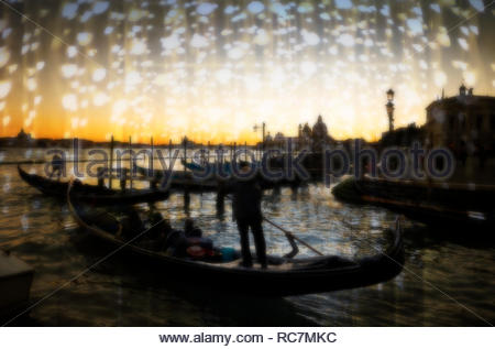 Atmospheric mood in Venice, Italy. - Stock Photo