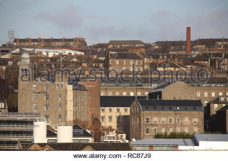 Distant view of Hotel Indigo and Staybridge Suites Dundee Scotland  January 2019 - Stock Photo