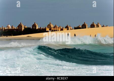 Beach at the RIU Hotel, Sal, Cape Verde, Africa - Stock Photo