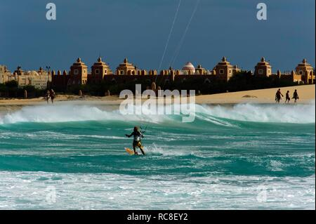 Beach at the RIU Hotel, Sal, Cape Verde, Africa - Stock Photo