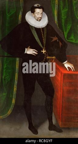 Portrait of Henry III of France, King of Poland and Grand Duke of Lithuania. Museum: Ambras Castle, Innsbruck. Author: Quesnel, Francois. - Stock Photo