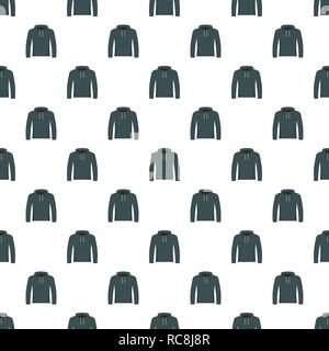 Hip hop hoodie pattern seamless vector repeat for any web design - Stock Photo