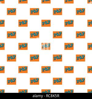 Rap on bricks wall pattern seamless vector repeat for any web design - Stock Photo